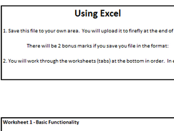 End of term excel activity