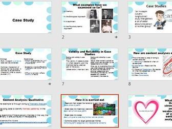 Case Studies & Content Analysis Research Methods