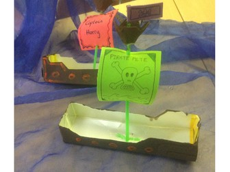 Make a pirate ship - Design and Technology project pack.