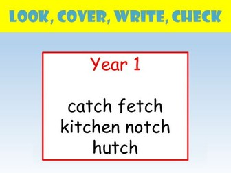 Y1 whole class look cover write check by realllanguages teaching y1 english spelling powerpoint look cover write check tch ccuart Choice Image