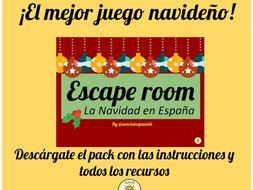 Christmas Escape Room Spanish- La Navidad en España Escape Room