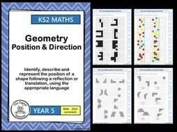 Year 5 - Reflection and Translation - Geometry - Position and Direction  White Rose (MASTERY)