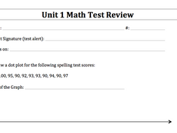 Everyday Math (EDM) 6th Grade Test Reviews and Answer Keys - Units 1-8