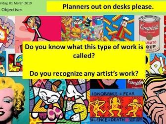 Art and Design - Pop Art Scheme of Work