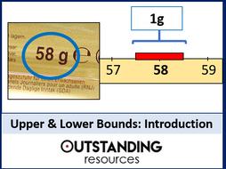 Upper and Lower Bounds 1 - Singular Amounts and Error Intervals (+ worksheet)