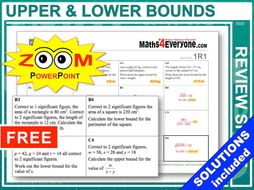 GCSE Revision (Upper and Lower Bounds)