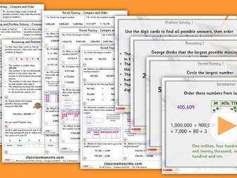 Year 6 Compare and Order Autumn Block 1 Step 2 Lesson Pack