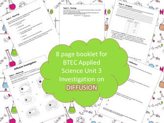 BTEC Unit 3 Applied Science Booklet Diffusion