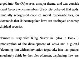Xenia in Homer's The Odyssey Essay