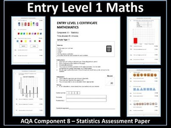 AQA Entry Level Maths Assessment - Statistics
