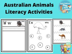 Australian Animals Literacy Activities