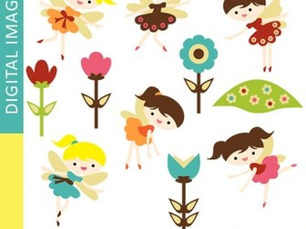Clip art Retro Garden Fairy