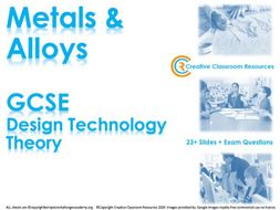GCSE DT Theory (New Spec) – Metals and Alloys