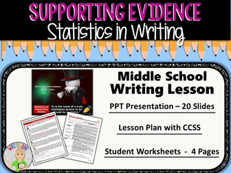 STATISTICS as Supporting Evidence - Middle School