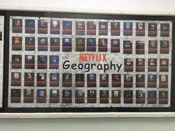 Netflix 'Geography' display by MrsGeography16   Teaching