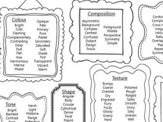 Vocabulary Art Elements KS3 Key Words Handout