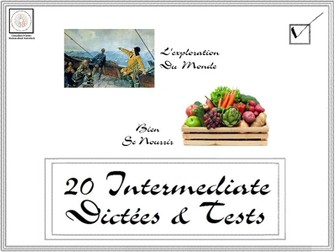 French: 20 Intermediate Dictées and Tests 1