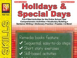 Holidays & Special Days: Vocabulary Building Activities