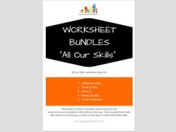 FREE worksheets x5 - ALL OUR SKILLS