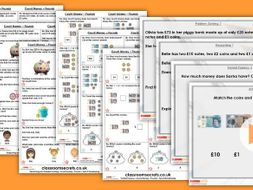 Year 2 Count Money - Pounds Autumn Block 3 Step 2 Lesson Pack