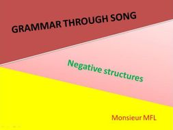 French Grammar - Negatives through Song