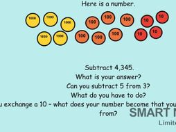 Notebook file teaching subtraction