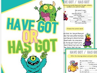 HAVE GOT or HAS GOT grammar set