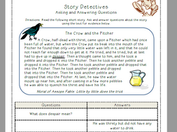 Asking and Answering Questions (The Crow and the Pitcher) {Freebie!}