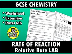 Rate of reaction - relative rate iodine clock lab and worksheet