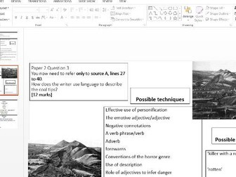 8700 English Language Paper 1 Writing Frames Aberfan and Jamaica Inn
