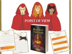 Point of View Worksheets to accompany the middle grade novel, Miist by Kamilla Reid