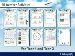 weather worksheets for ks1 10 activities by idj teaching resources. Black Bedroom Furniture Sets. Home Design Ideas