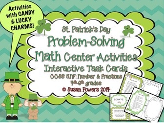 St.Patrick's Day Number & Fractions Candy Problems