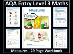 Measure - AQA Entry Level 3 Maths Workbook