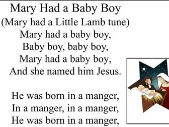 Baby Jesus - Nursery Literacy Planning - T4W