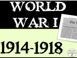 World War I Quick and Easy Newspaper Activity Bundle