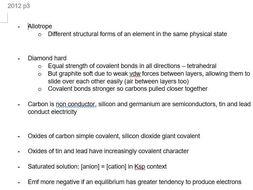 Paper 3 Notes | Pre-U Certificate in Chemistry 9791