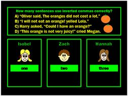 Inverted Commas Powerpoint Game by Grammatickx