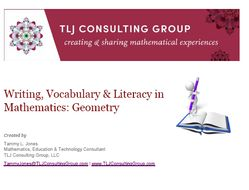 Writing, Vocabulary & Literacy in Mathematics: Geometry