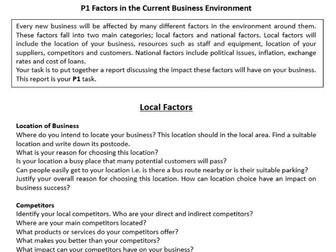 BTEC Level 2 Business Unit 1 Enterprise