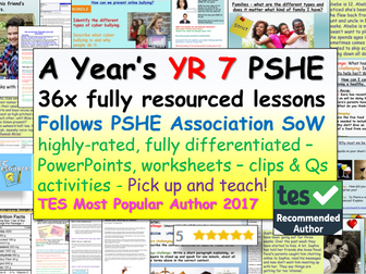 Complete Year 7 PSHE + RSE