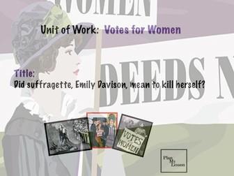 Did suffragette, Emily Davison, mean to kill herself?