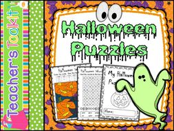 Halloween   Halloween Puzzles   Early Finishers