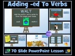 Verbs: Adding suffixes -ed, -d, -ied  - Simple Past Tense