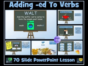Verbs: Adding suffixes -ed, -d, -ied  (Simple Past Tense)
