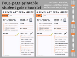A level Art exam student guide booklet