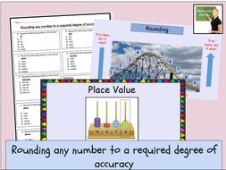 Maths- Number and Place Value Year 6 lesson- round any number to a required degree of accuracy