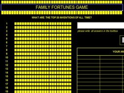 Family Fortune - Top 20 Inventions