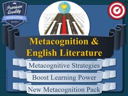 English Literature - Metacognition Pack