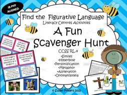 A Fun Figurative Language Scavenger Hunt